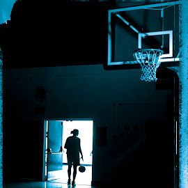 Late Night Practice by Aller Beauchamp - Sports & Fitness Basketball ( endurance, basketball, practice, sports, gymnasyium, gym, women )