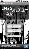 Screenshot of Greys Anatomy Quiz