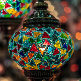 turkish lamp by Gianluca Pisano - Artistic Objects Antiques ( containers, manual labor, decorative, decoration, colors, souvenir, art, variety, turkish, artifacts, crafts, lamps, lights, porcelain, craftsman, artistic, dishes, paintings, painting, bowls )