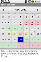 Screenshot of Period Calendar (pCal)