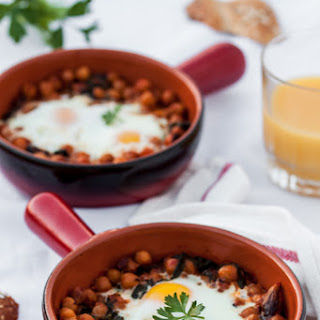 "Hearty Eggs with Harissa Spiced Chickpeas and Mixed greens and ""A Ramadan Gift"" Giveaway"