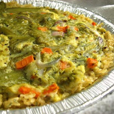 Microwave Veggie Quiche With Brown Rice Crust