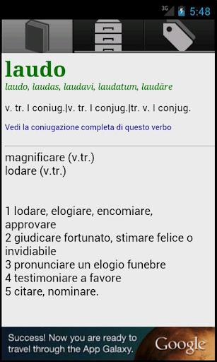 iLatino - Versioni Dizionario