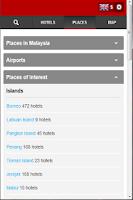 Screenshot of Hotels Malaysia