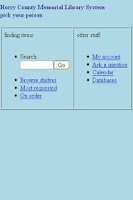 Screenshot of HCML Online Catalog