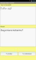 Screenshot of Indonesian Arabic Translator