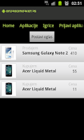 Screenshot of Android Market Srbija
