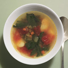 Spring Greens and Lima Bean Soup