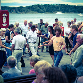 Oslo Harbour by Robert Grayston - People Musicians & Entertainers (  )