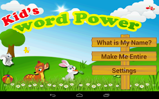 Screenshot of Kids Words Power
