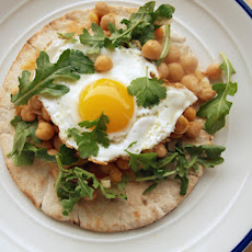 Harissa Chickpeas With Fried Eggs