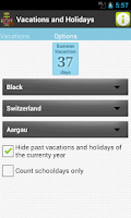 Screenshot of Holiday & Vacation Countdown