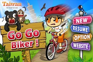 Screenshot of Go Go Biker !