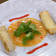 Tchoup Chop Kalua Pork Egg Rolls served with Orange-Thai Chili Dipping Sauce