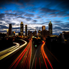 Atlanta @ Night by Madhukar Neerukonda - City,  Street & Park  Skylines ( atlanta, photography, nightscape )