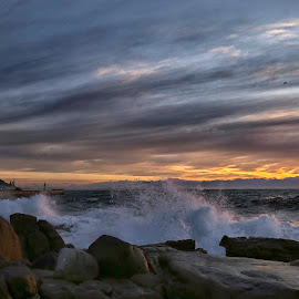 Kalk bay early light by Gale McAll - Landscapes Sunsets & Sunrises