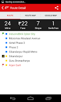 Screenshot of Delhi-NCR Metro