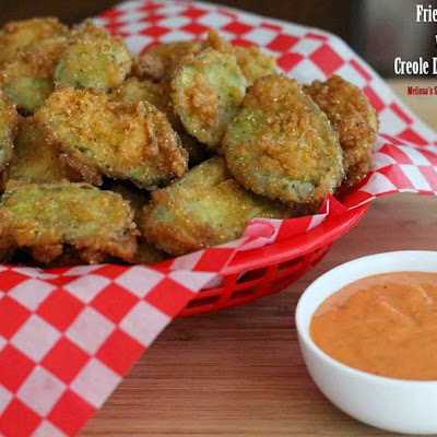 Fried Pickles with a Creole Dipping Sauce