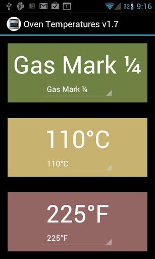烤箱溫度轉換器