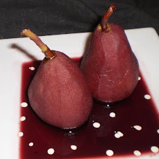 Shakespeare's Baked Warden Pears in Red Wine