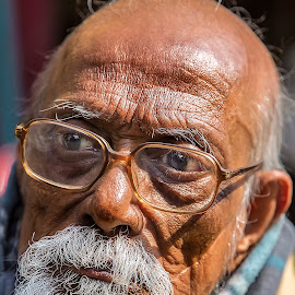 Old Man 2 by Rajkumar Bose - People Portraits of Men ( old-man, glasses, kolkata, age, beard, india, 5d mark iii,  )