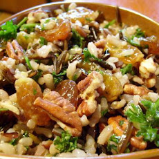 Orange Scented Wild Rice Salad With Toasted Pecans and Golden Ra