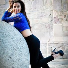 Geo in blue by Luis Photojournalist - People Fashion ( model, legs, heels, beauty, portrait )