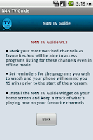 Screenshot of TV Guide India (N4N)