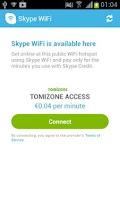 Screenshot of Skype WiFi