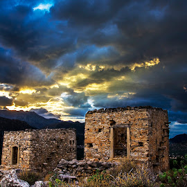 Old windmills by Andreas Loukakis - Buildings & Architecture Other Exteriors ( greece, ruins, crete, windmills )