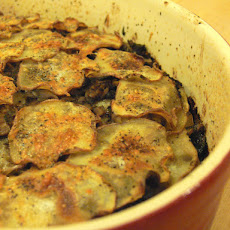 Potato and porcini gratin
