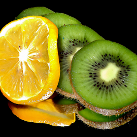 kiwi with lemon by LADOCKi Elvira - Food & Drink Fruits & Vegetables ( lemon )
