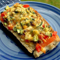 Fresh Veggie French Bread Pizzas