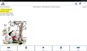 Screenshot of Inläsningstjänst