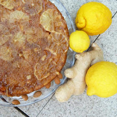 Lemon Ginger Almond Upside-Down Cake