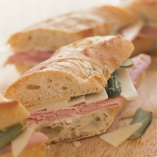 Baguette with French Ham, Gruyère and Cornichons