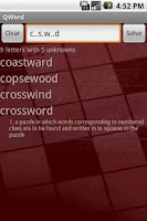 Screenshot of QWord - crossword solver