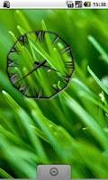 Screenshot of Black Icicle Transparent Clock