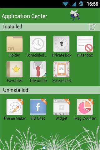 GO SMS Pro Green Theme