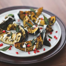 Roasted Squash with Yogurt Dressing and Pomegranate Seeds