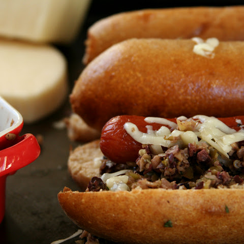 Muffuletta Hot Dogs