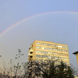 Rainbow over Sarajevo by Lejla Hadziabdic - Buildings & Architecture Other Exteriors