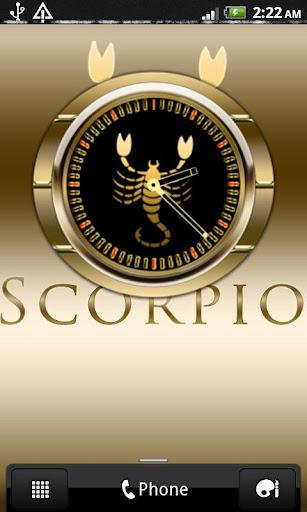 SCORPIO - Zodiac Clock