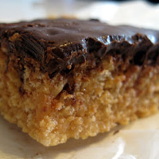 Chocolate Dipped Peanut Butter Rice Krispies
