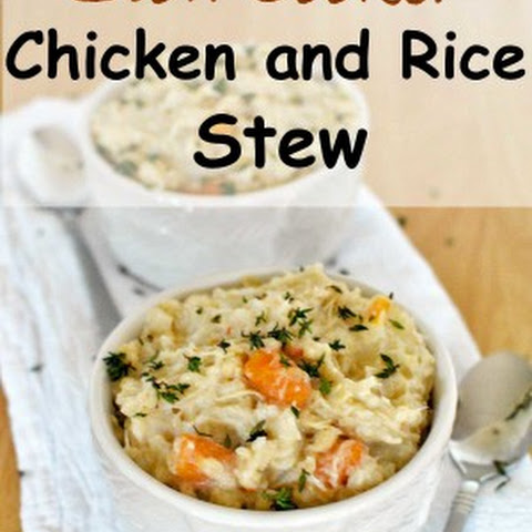 Slow Cooker Chicken and Rice Stew