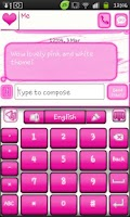 Screenshot of Go Keyboard Pink and White