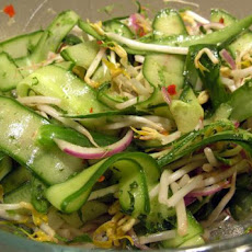 Cucumber, Bean Sprout and Red Onion Salad