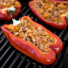Vegetarian Pelau–Stuffed Peppers Recipe