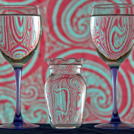 Three Glasses by Steve Edwards - Artistic Objects Glass ( glass, artistic objects, close up, objects )
