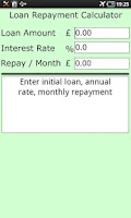 Screenshot of Loan Repayment Calculator